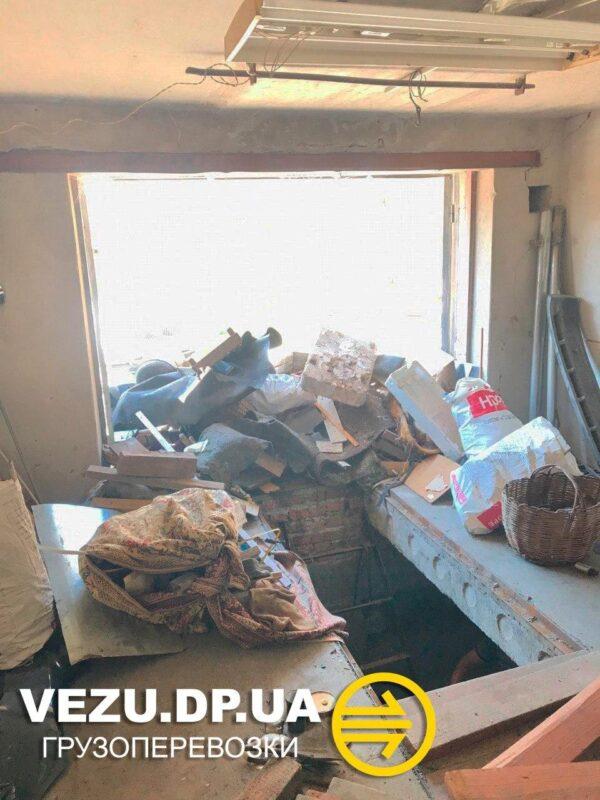 вывоз мусора из гаража Днепр
